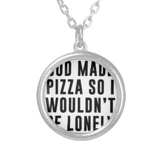 Pizza Lonely Silver Plated Necklace