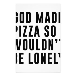 Pizza Lonely Stationery