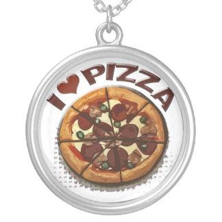 Pizza Love Silver Necklace