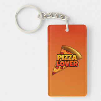Pizza Lover Keychain (single-sided)