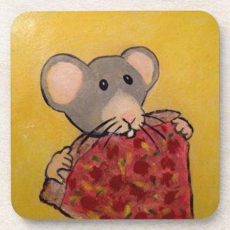 Pizza Loving Rat Coasters