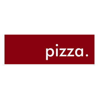 pizza. loyalty punch card pack of skinny business cards