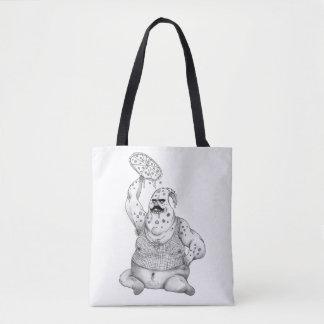 Pizza Man Tote Bag