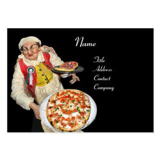 PIZZA & MANDOLIN ITALIAN KITCHEN  ,black red Business Cards