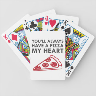 Pizza My Heart Bicycle Playing Cards