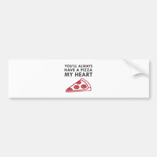 Pizza My Heart Bumper Sticker