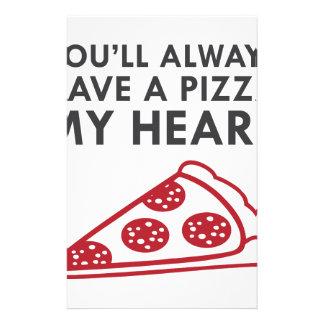 Pizza My Heart Stationery