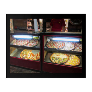 Pizza on the Street Austin Texas Acrylic Wall Art
