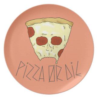 Pizza Or Die Plate
