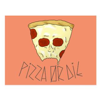 Pizza Or Die Postcard
