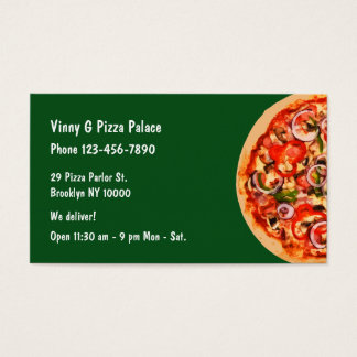 Pizza Parlor Restaurant Business Card