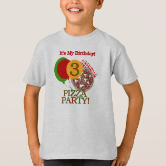 Pizza Party 3rd Birthday T-Shirt