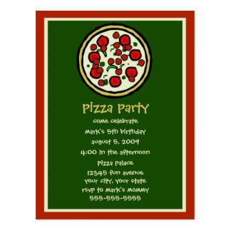 Pizza Party Birthday Invitation Postcard