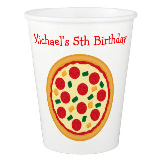Pizza Party Birthday Paper Cup