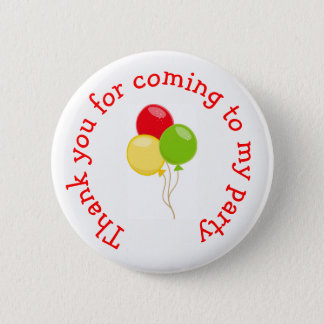 Pizza Party Birthday 'Thank you for coming' 6 Cm Round Badge
