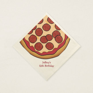 Pizza Party Custom Paper Napkins