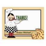 Pizza Party Flat Thank You Card Personalised Invites
