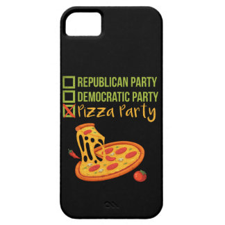 Pizza Party - Funny Novelty Voting Political Barely There iPhone 5 Case