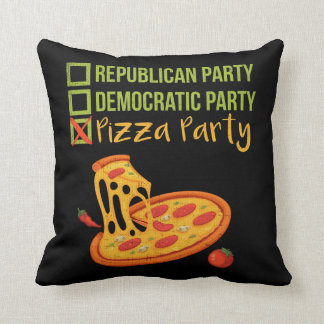 Pizza Party - Funny Novelty Voting Political Cushion