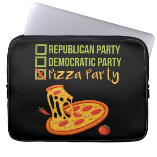 Pizza Party - Funny Novelty Voting Political Laptop Sleeve