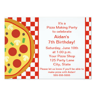 pizza party invitations & announcements | zazzle.au, Party invitations