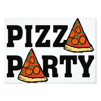 pizza party invitation 3
