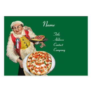 PIZZA PARTY ITALIAN KITCHEN, PIZZERIA ,green red Business Cards