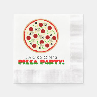 Pizza Party Paper Napkins Disposable Serviette