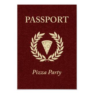 pizza party passport 9 cm x 13 cm invitation card
