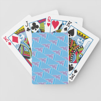 Pizza Party Pattern Bicycle Playing Cards