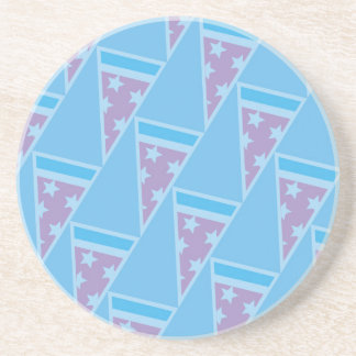 Pizza Party Pattern Coaster