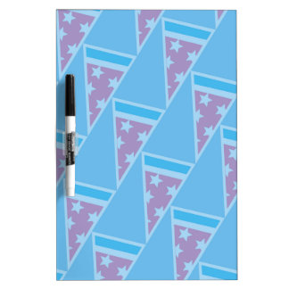 Pizza Party Pattern Dry Erase White Board