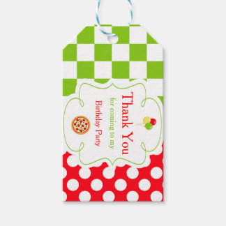 Pizza Party Thank You Gift Tag
