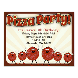 Pizza Party Time Card