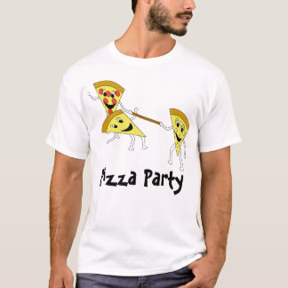 Pizza Party w/ Text T-Shirt