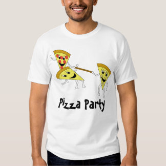 Pizza Party w/ Text Tshirt