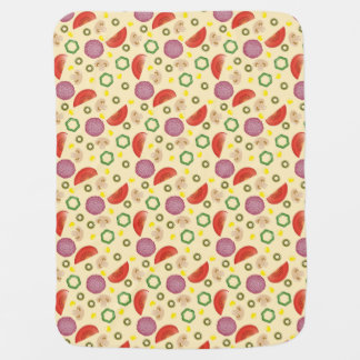 Pizza Pattern 2 Baby Blanket