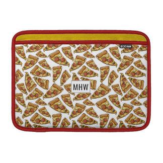 Pizza Pattern custom monogram Macbook sleeves