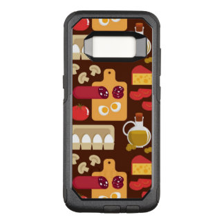 Pizza Pattern OtterBox Commuter Samsung Galaxy S8 Case