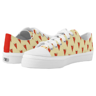 Pizza Pattern Pepperoni Slice Print Pizza Sneakers