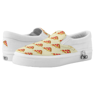 Pizza Pattern Slip On Shoes