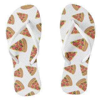 Pizza Pattern Thongs