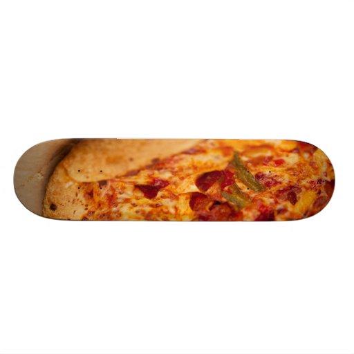 Pizza photo skate board deck