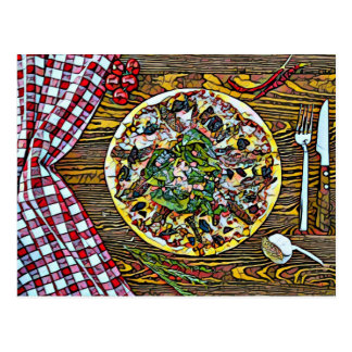 Pizza pie perfection for Postcrossing postcards