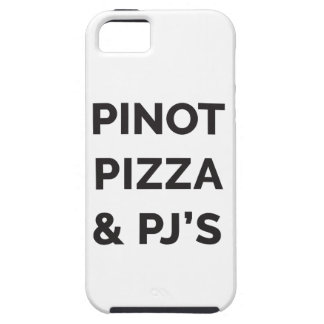 Pizza, Pinot and PJ's Funny Wine Print iPhone 5 Cases