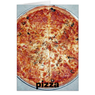 pizza, pizza card