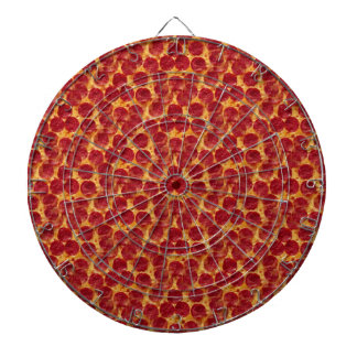 pizza pizza dartboard with darts