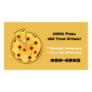 Pizza Place Business Cards - Customize