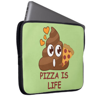 Pizza Poop Life Laptop Sleeve