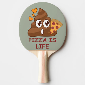 Pizza Poop Life Ping Pong Paddle